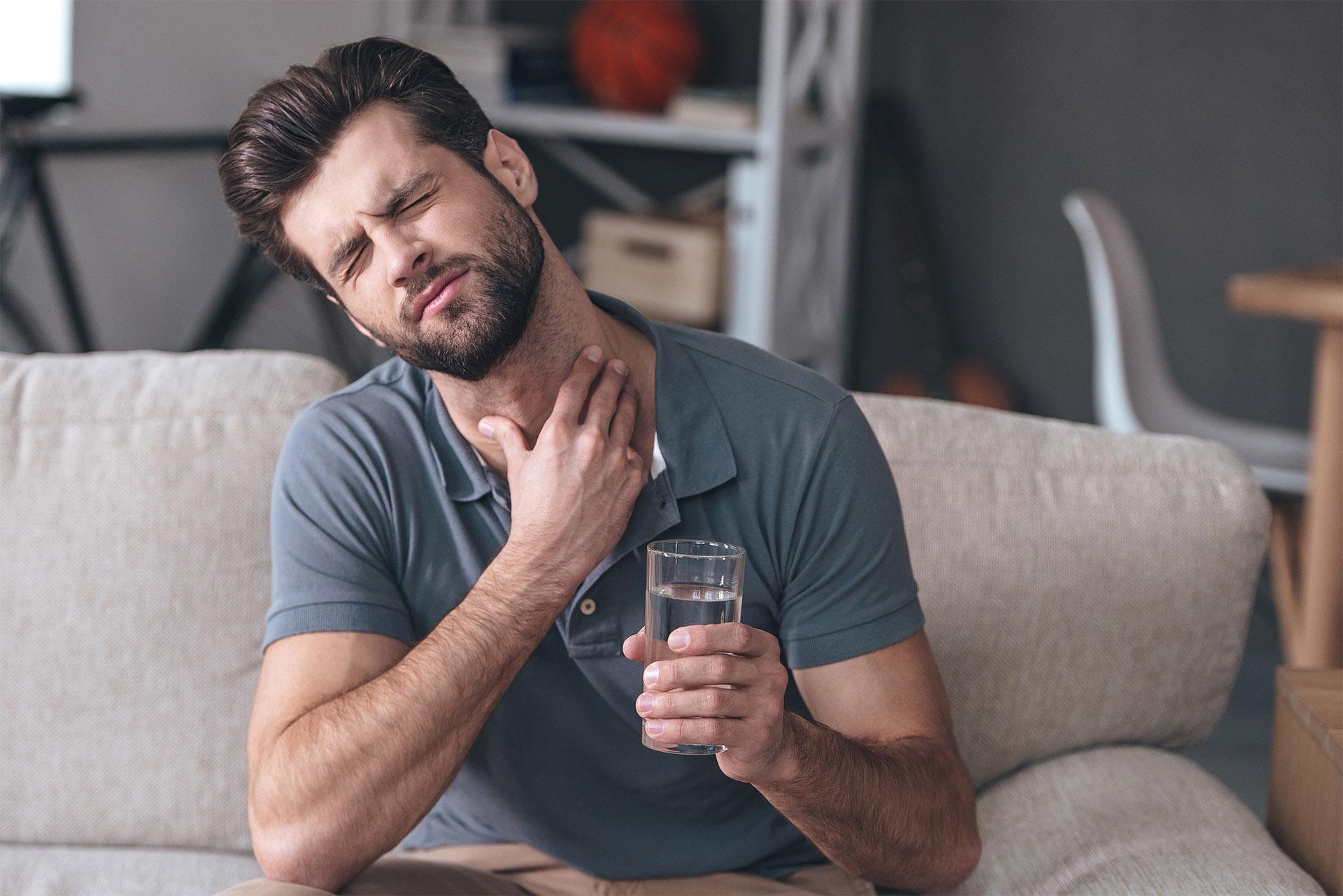 Behandeling van keelontsteking